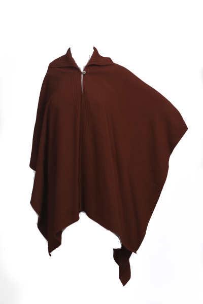Knitted Collar Cape - Velvet