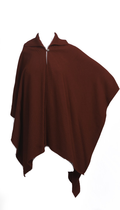 Knitted Collar Cape - Velvet