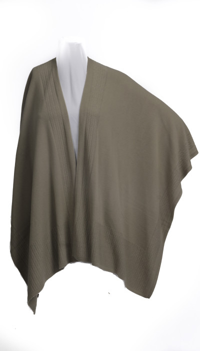 The Scarlet - Beige knitted women's shawl wrap cape poncho