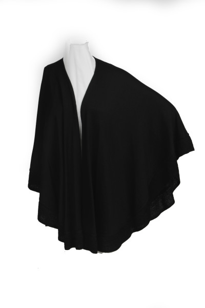 Carmen - Red women's knitted wrap cape shawl