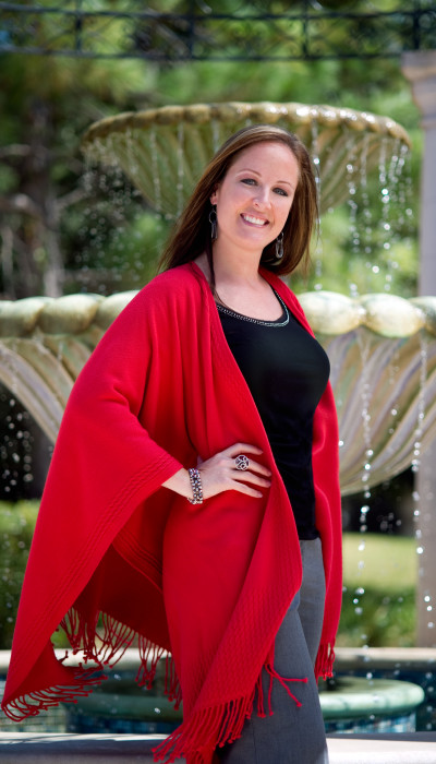 Red womens wrap cape shawl