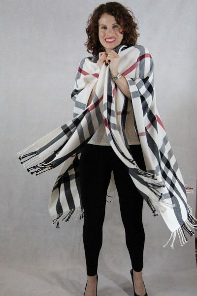 Plaid womens wrap