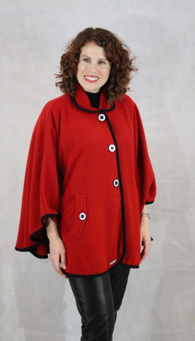 Madison Red womens cape