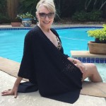 Black Crochet Wrap